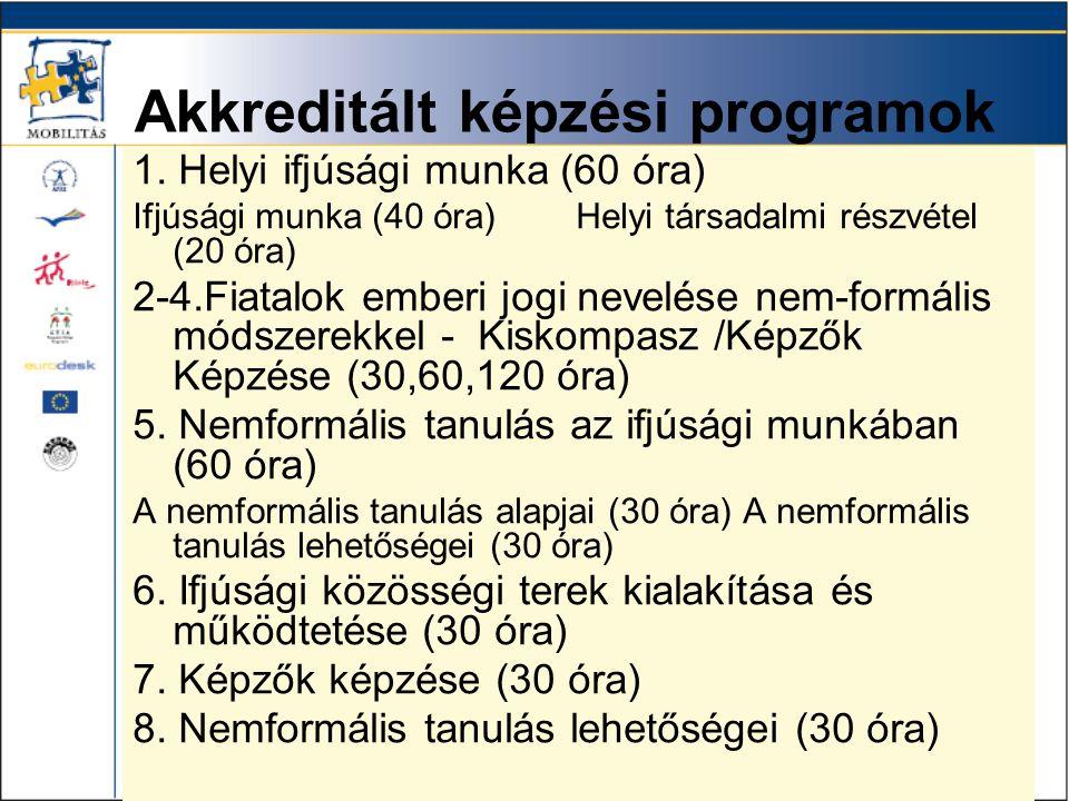Akkreditált képzési programok 1.