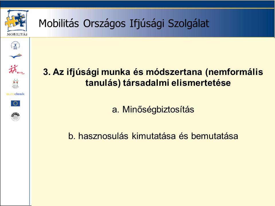 Mobilitás Országos Ifjúsági Szolgálat képzési tevékenység 1995-2000.