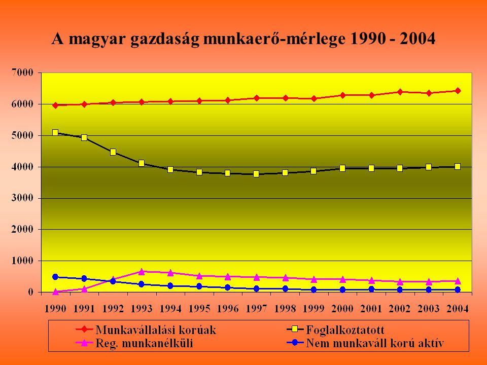 A magyar gazdaság munkaerő-mérlege 1990 - 2004