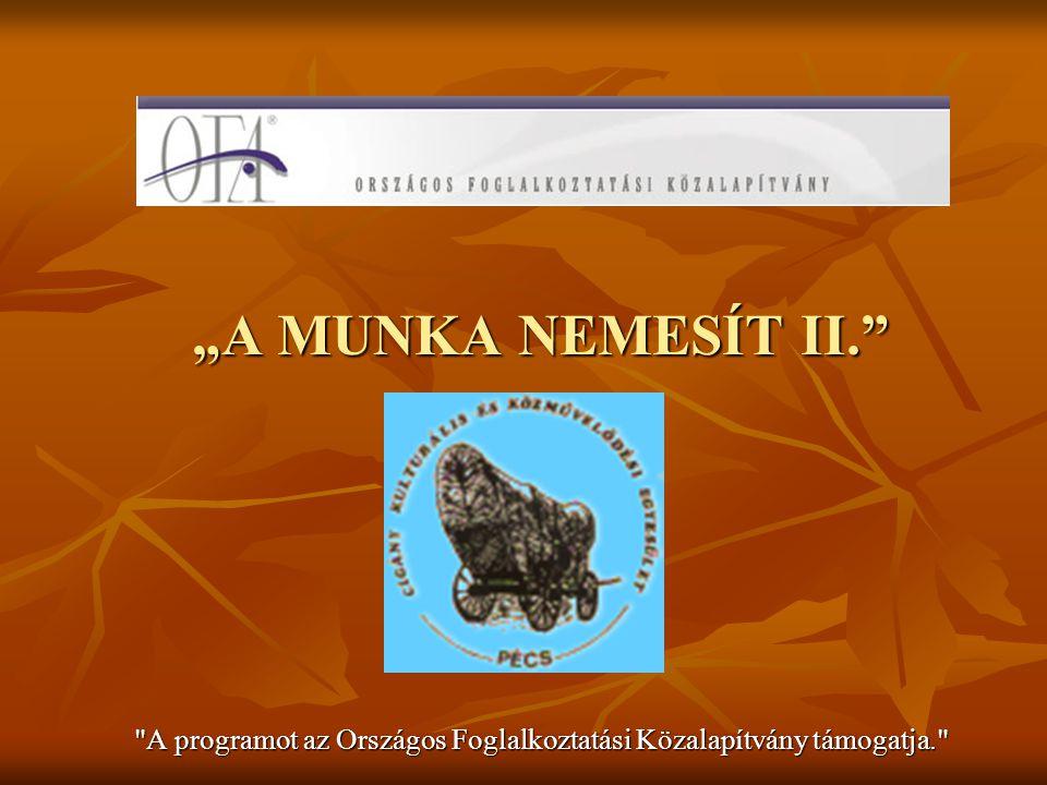 Készítette: Dr.Kosztics István A MUNKA NEMESÍT II.