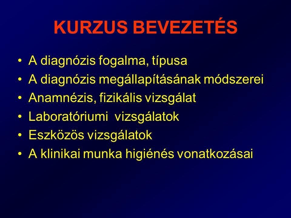 A DIAGNÓZIS FOGALMA •Diagnózis: (görög) Dia = egészen át Gnózis = megismerés Betegség felismerése, megállapítása •Diagnosztika: a betegség felismerésének módszertana