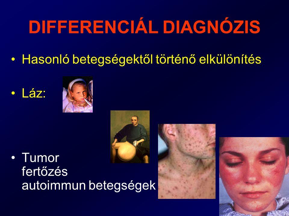 A GYORS DIAGNÓZIS JELENTŐSÉGE •A korán megkezdett gyógyítás eredményesebb,mert •Még nem alakultak ki visszafordíthatatlan szervkárosodások •Fertőző betegségek terjedése megelőzhető.