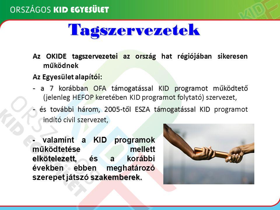 Eredmények Az OKIDE tagszervezetei és szakemberei által megvalósított HEFOP 2.3.2- es és TÁMOP 1.4.1-es projektek: 8 tagszervezet sikeres megvalósító •Hátrányos helyzetű emberek, köztük a romák foglalkoztathatóságának javítása HEFOP/2004/2.3.2-1.