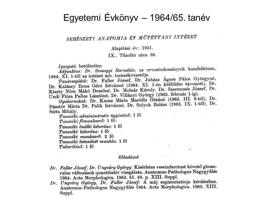 Egyetemi Évkönyv – 1964/65. tanév