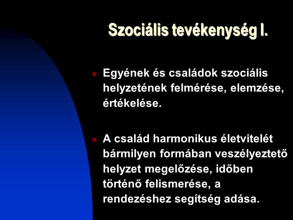 Szociális tevékenység I.