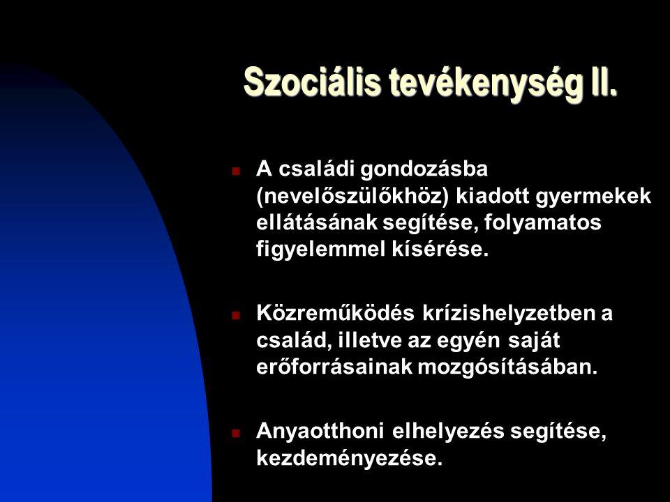 Szociális tevékenység II.