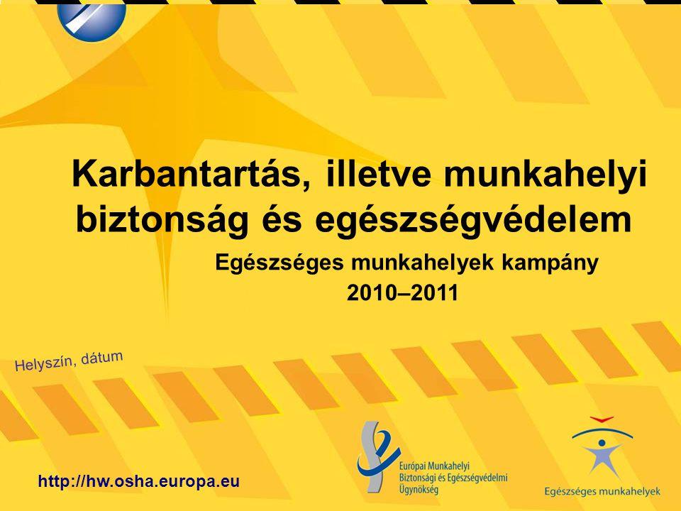 Karbantartás, illetve munkahelyi biztonság és egészségvédelem Helyszín, dátum http://hw.osha.europa.eu Egészséges munkahelyek kampány 2010–2011