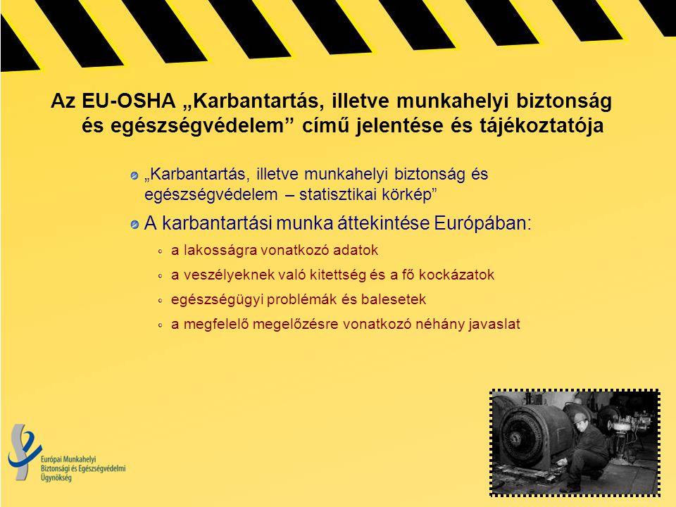 """Az EU-OSHA """"Karbantartás, illetve munkahelyi biztonság és egészségvédelem"""" című jelentése és tájékoztatója """"Karbantartás, illetve munkahelyi biztonság"""