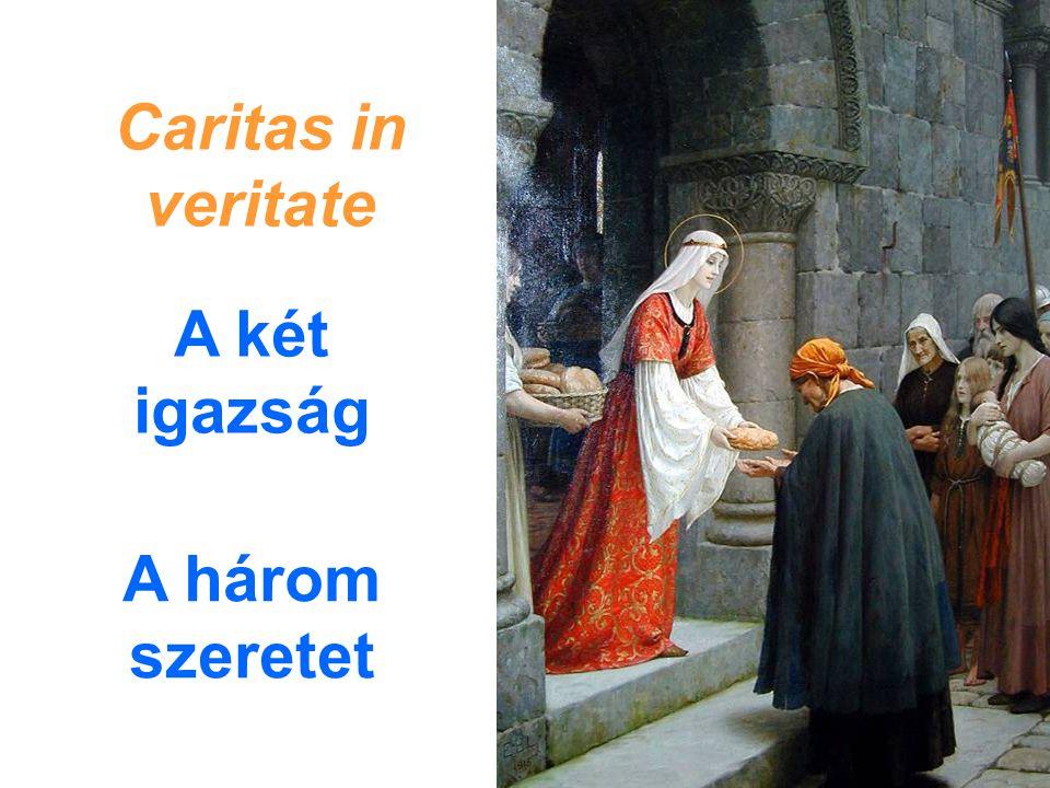 A három szeretet Caritas in veritate A két igazság