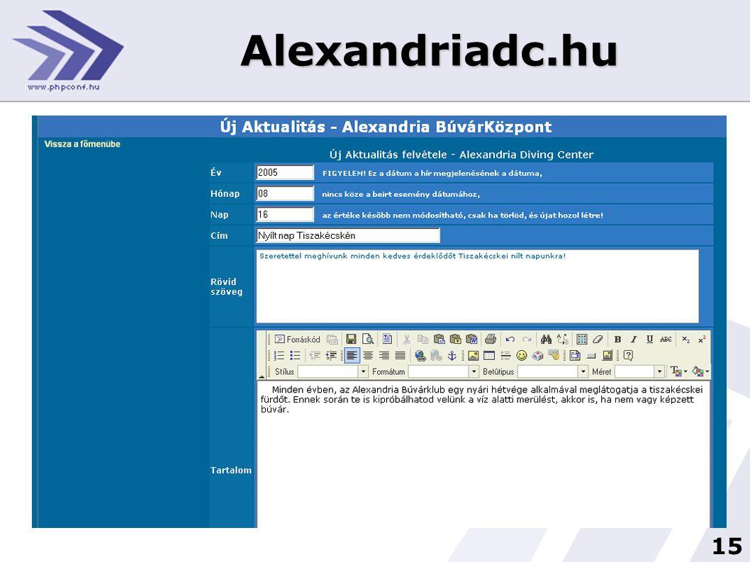 15 Alexandriadc.hu