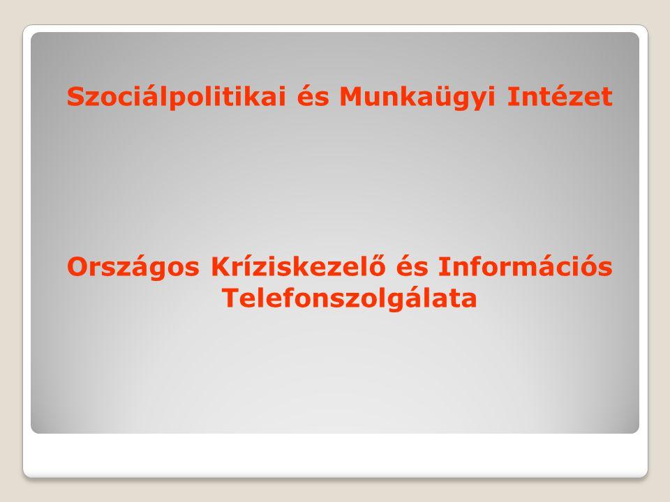 Szociálpolitikai és Munkaügyi Intézet Országos Kríziskezelő és Információs Telefonszolgálata