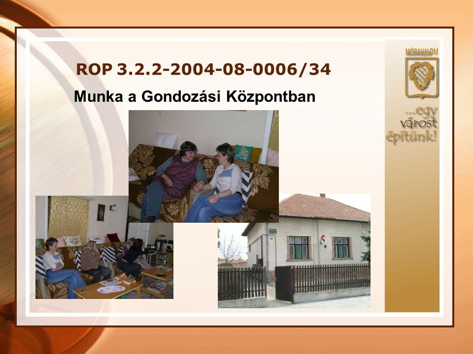 ROP 3.2.2-2004-08-0006/34 Munka a Huncutka Bölcsőde és Családi Napköziben