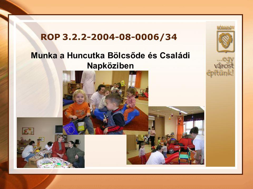 ROP 3.2.2-2004-08-0006/34 Munkán túli közös programok, kirándulások: Célcsoport Nyitás egymás felé, közös élmények szerzése, motiváció, csapaterősítés, bizalomépítés.