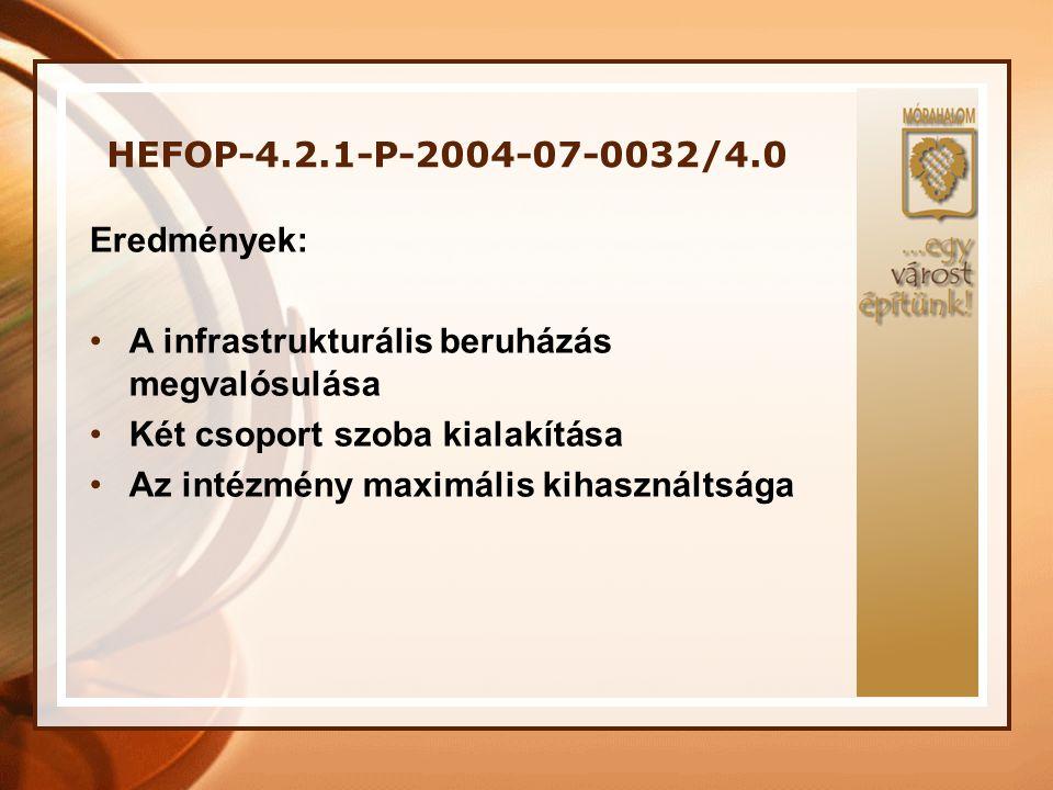 """HEFOP-4.2.1-P.-2005-02-0001/4.0 """"Fogyatékos Nappali Ellátó – és Foglalkoztatóház létesítése és komplex munkaerő piaci rehabilitációs és reintegrációs szolgáltatásokat is nyújtó, integrált Fogyatékos Támogató Szolgálati Központ létrehozása Mórahalmon"""