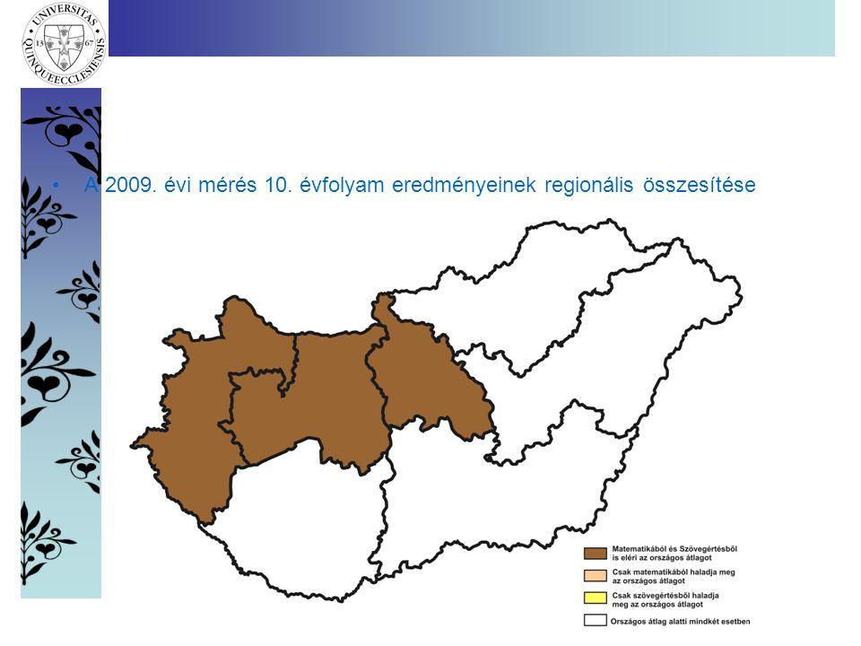 •A 2009. évi mérés 10. évfolyam eredményeinek regionális összesítése