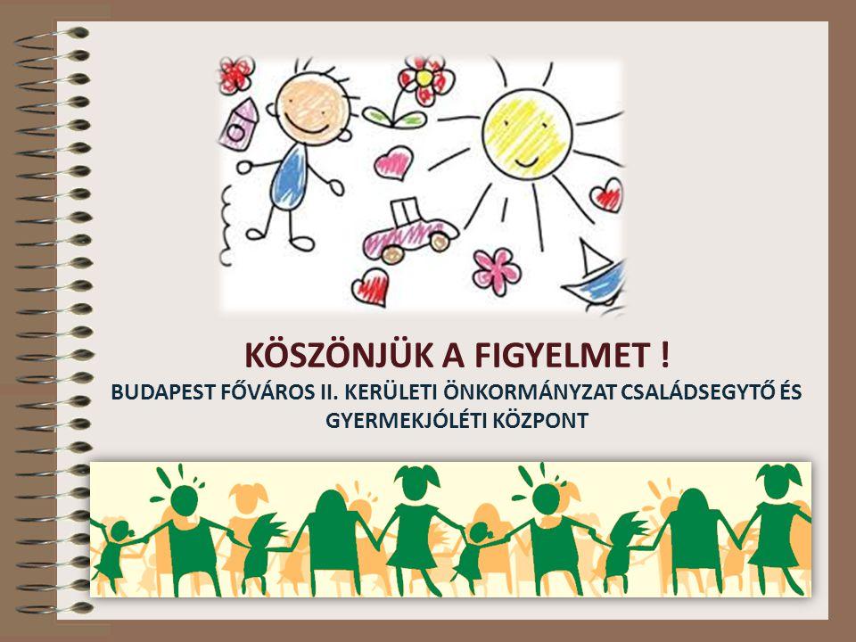KÖSZÖNJÜK A FIGYELMET ! BUDAPEST FŐVÁROS II. KERÜLETI ÖNKORMÁNYZAT CSALÁDSEGYTŐ ÉS GYERMEKJÓLÉTI KÖZPONT