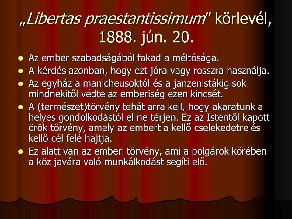 """Libertas praestantissimum körlevél, 1888. jún. 20."