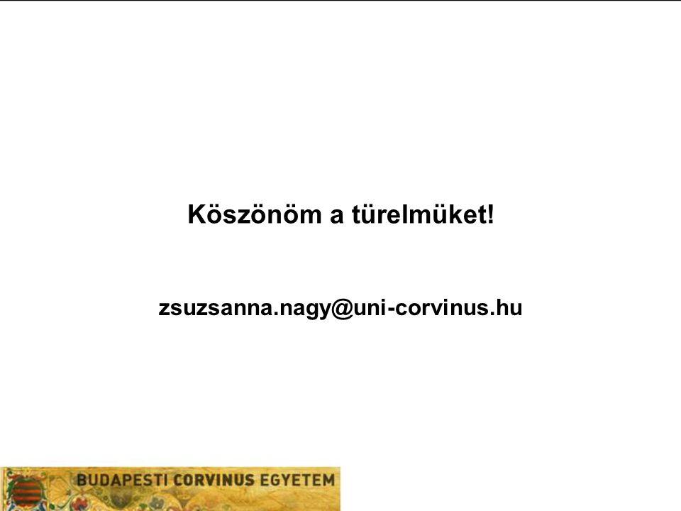 Köszönöm a türelmüket! zsuzsanna.nagy@uni-corvinus.hu