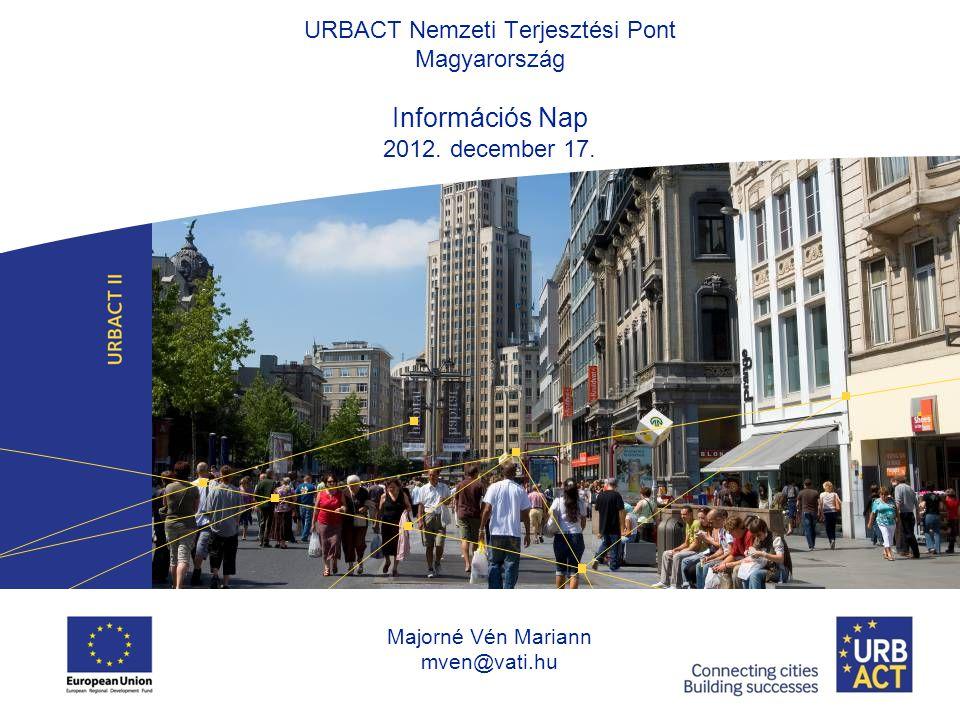 URBACT Nemzeti Terjesztési Pont Magyarország Információs Nap 2012.