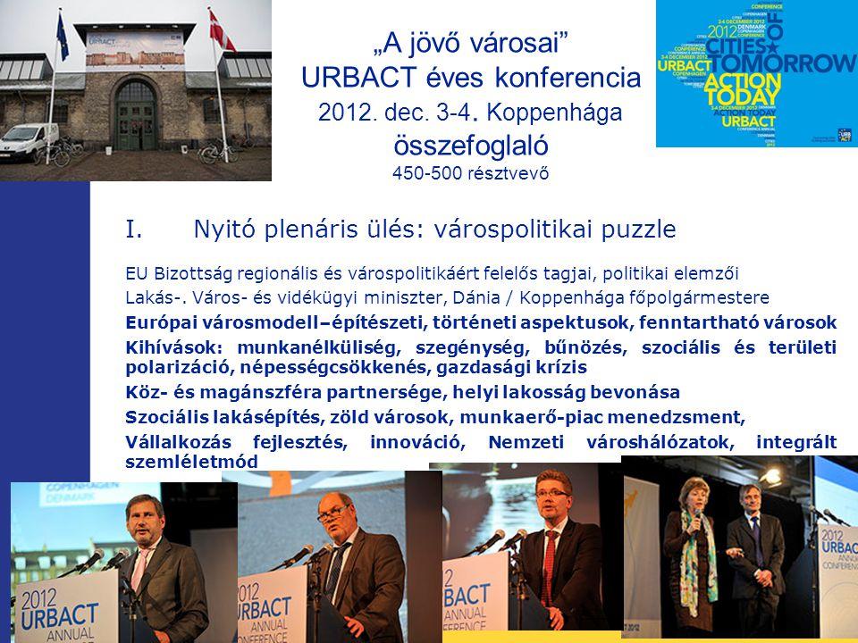 """""""A jövő városai URBACT éves konferencia 2012. dec."""
