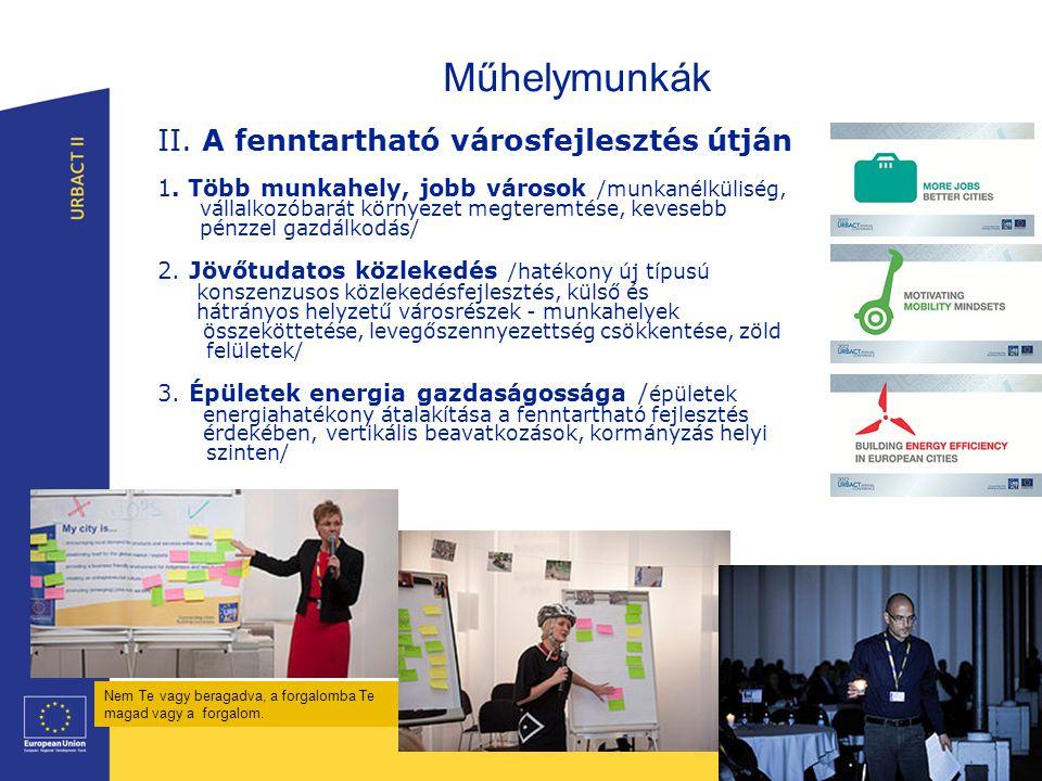 Műhelymunkák II. A fenntartható városfejlesztés útján 1.