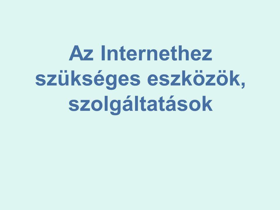 Az Internethez szükséges eszközök, szolgáltatások