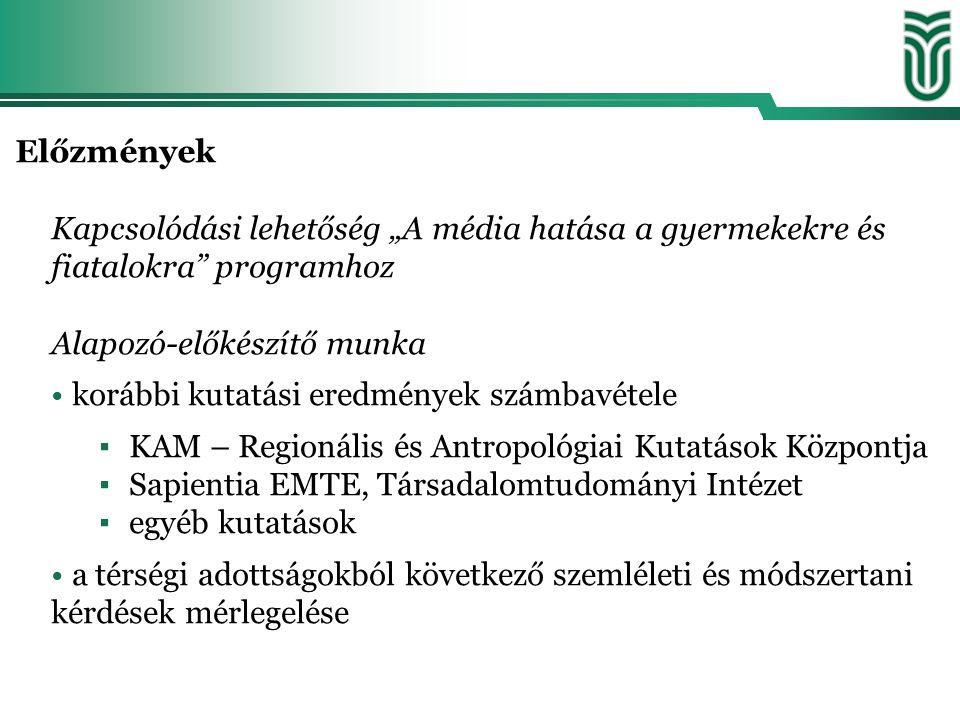 Korábbi kutatási programok jellemzése A kutatások típusa szerint: •egyéb kutatások résztémája (pl.