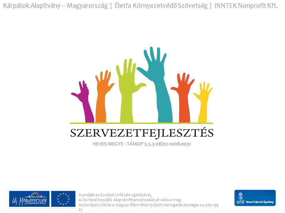 Szervezetek fejlesztésének eredményei  Elkészült huszonkilenc szervezet helyzetelemzése, diagnózisa.