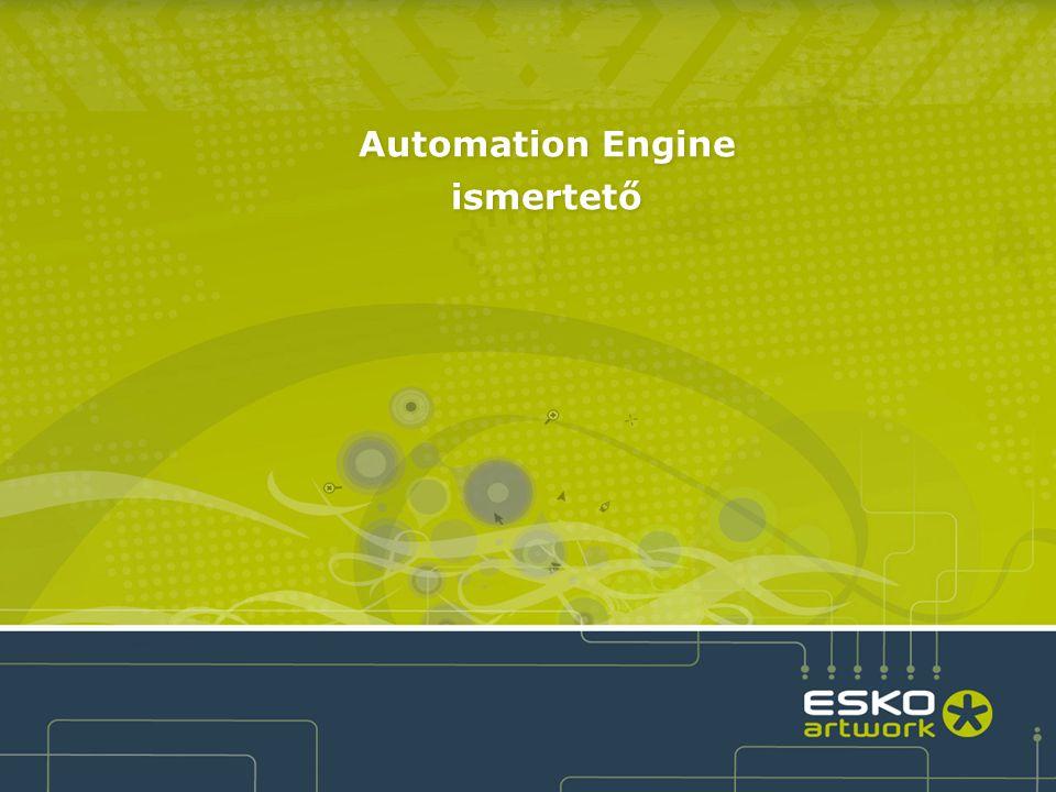 2 ●Az Automation Engine egy hatékony munkafolyamat irányító szoftver, ami jelentős automatizálást tesz lehetővé, adatbázis alapú munka- folyamat kezeléssel és a címke-, csomagolóanyaggyártás és a kereskedelmi nyomtatás széleskörű prepress technológiáinak alkalmazásával.