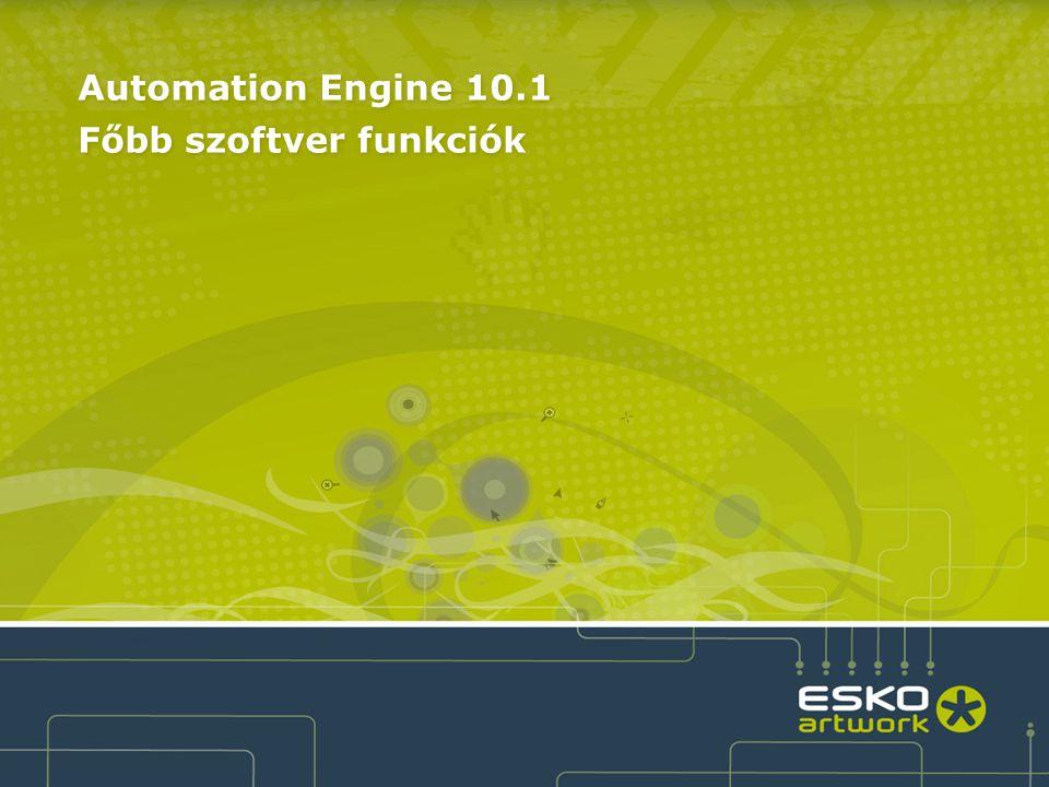 4 Automation Engine Base Software Configuration Job Mgmt Module Automation Engine 10.1 szoftver konfiguráció ●Automation Engine szoftver alap konfiguráció –Komplett munkafolyamat az összes hagyományos prepress gyártási eszközzel –Kifinomult munkafolyamat irányítás dinamikus (feltételes) automatizálással –Shuttle technológia könnyíti az alkalmazását ●7 opcionális modul: –Job Management Module –Automated Job Creation Module –Viewing & QA Module –Reporting & 3D Module –Processor Module –Layout Module –i-Cut Automated Module Viewing & QA Module Reporting & 3D Module Processor Module Layout Module i-Cut Automated Aut.