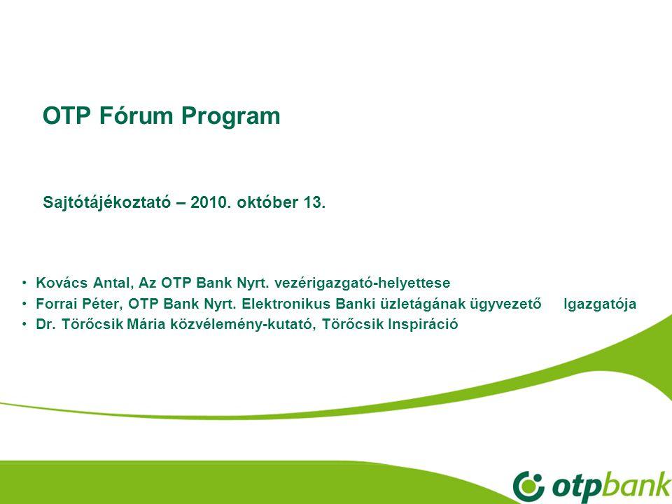 OTP Fórum Program • Kovács Antal, Az OTP Bank Nyrt.
