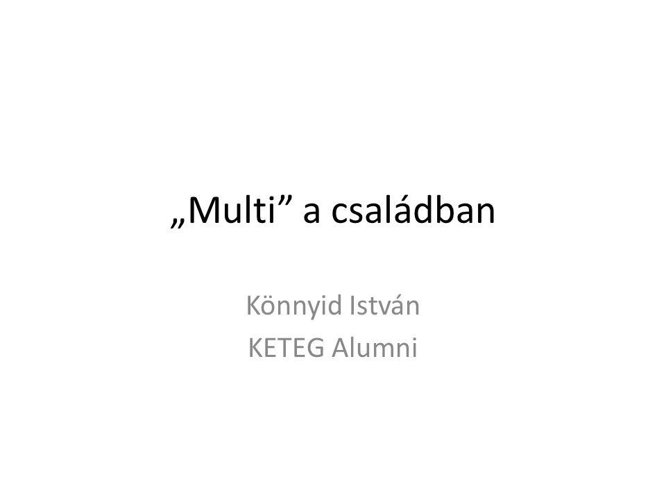"""""""Multi"""" a családban Könnyid István KETEG Alumni"""