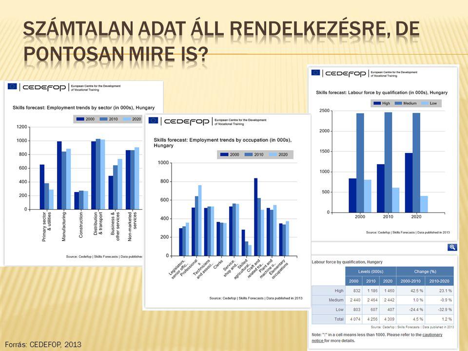 Forrás: CEDEFOP, 2013