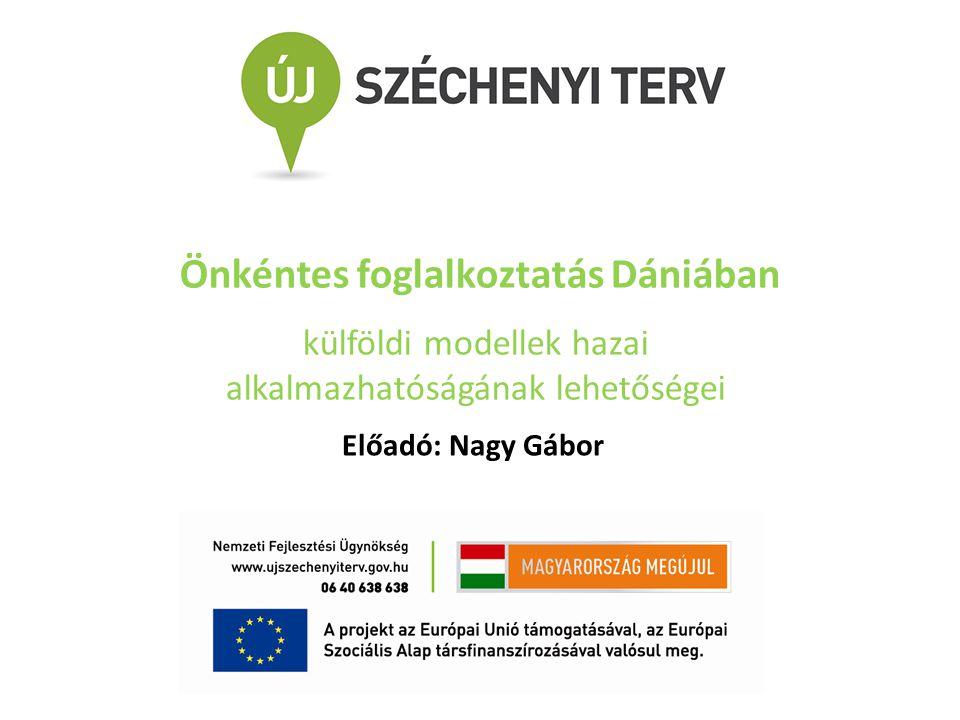 Önkéntes foglalkoztatás Dániában külföldi modellek hazai alkalmazhatóságának lehetőségei Előadó: Nagy Gábor