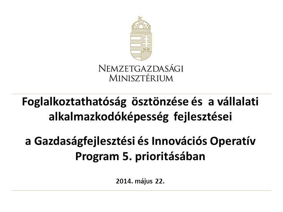 Foglalkoztathatóság ösztönzése és a vállalati alkalmazkodóképesség fejlesztései a Gazdaságfejlesztési és Innovációs Operatív Program 5. prioritásában