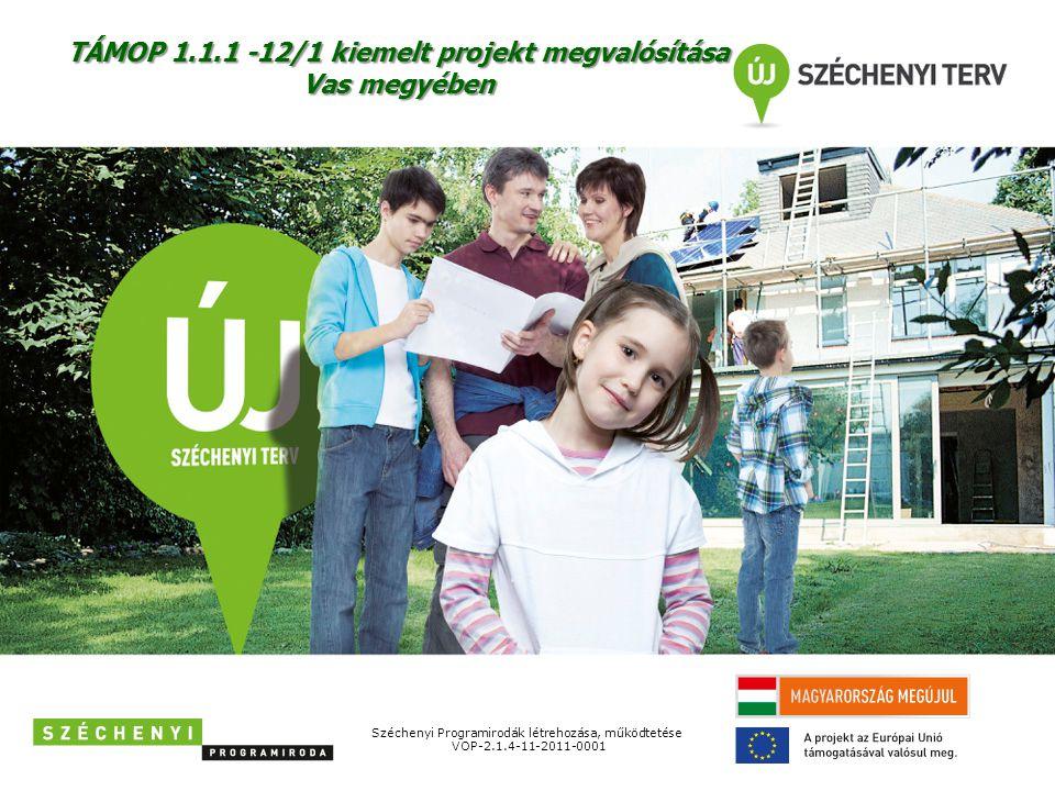 Széchenyi Programirodák létrehozása, működtetése VOP-2.1.4-11-2011-0001 TÁMOP 1.1.1 -12/1 kiemelt projekt megvalósítása Vas megyében