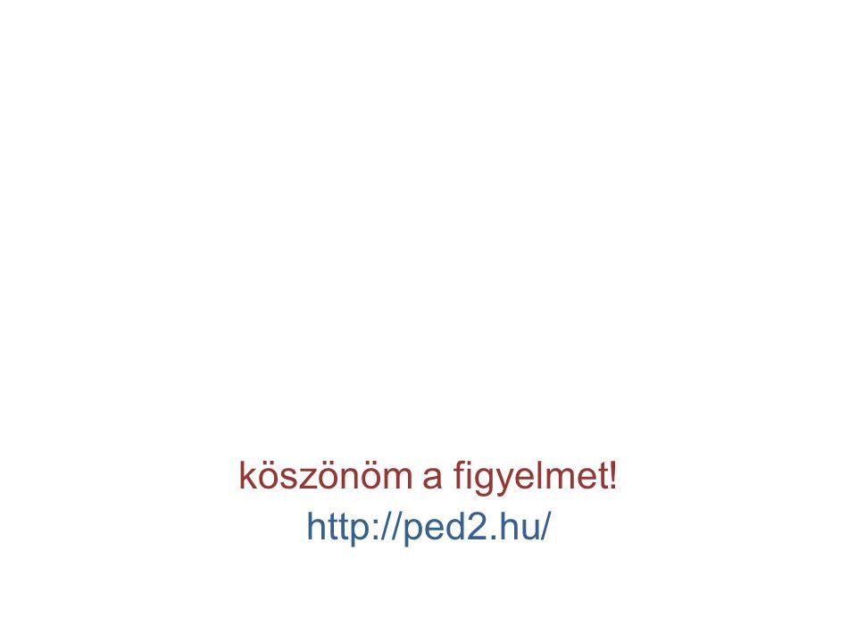köszönöm a figyelmet! http://ped2.hu/