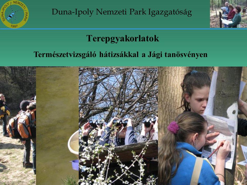 Duna-Ipoly Nemzeti Park Igazgatóság Terepgyakorlatok Természetvizsgáló hátizsákkal a Jági tanösvényen