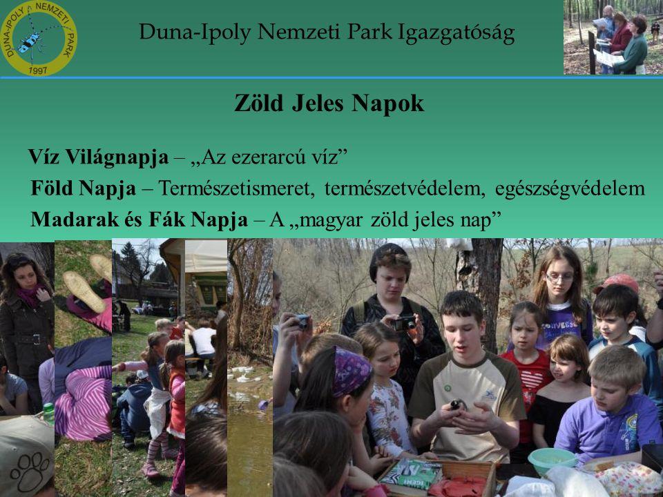 """Duna-Ipoly Nemzeti Park Igazgatóság Zöld Jeles Napok Víz Világnapja – """"Az ezerarcú víz"""" Föld Napja – Természetismeret, természetvédelem, egészségvédel"""