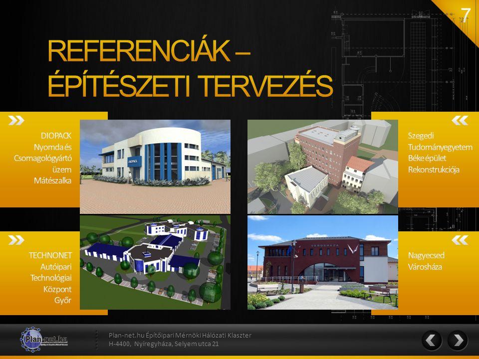 Plan-net.hu Építőipari Mérnöki Hálózati Klaszter H-4400, Nyíregyháza, Selyem utca 21