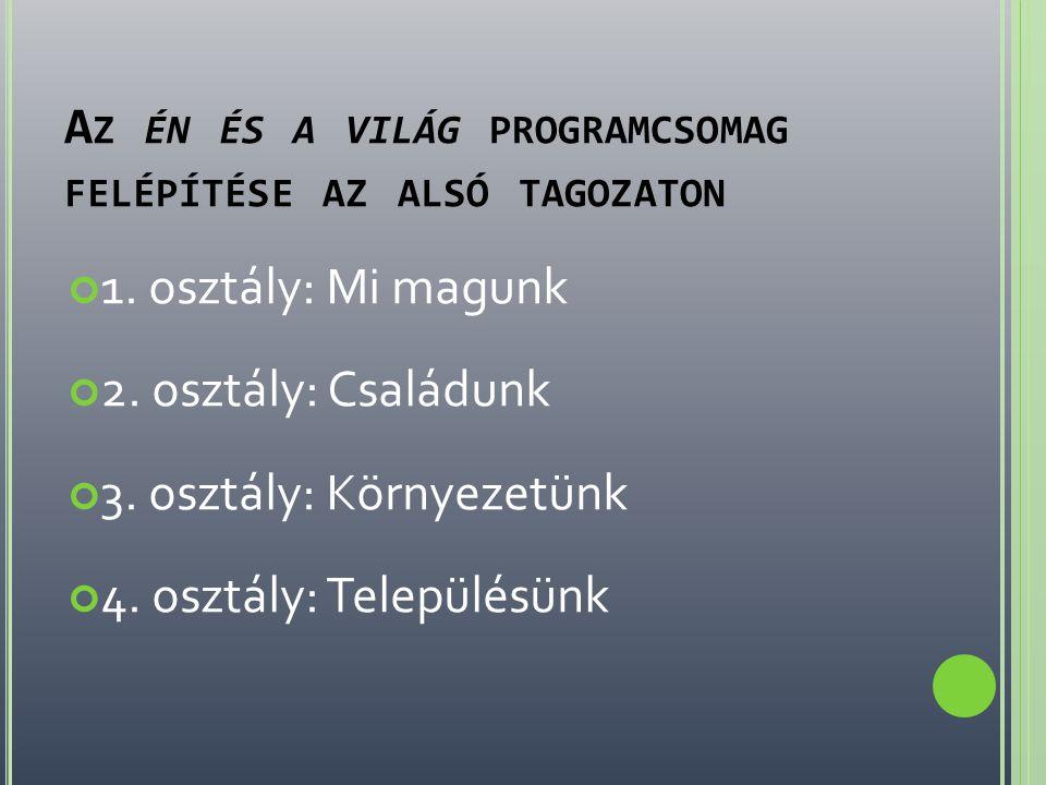 1.OSZTÁLY : M I MAGUNK Ferkó és a görkorcsolya című történet.
