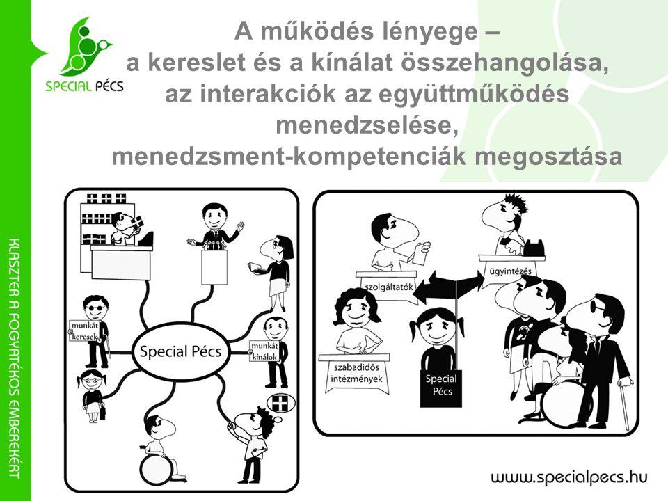 A működés lényege – a kereslet és a kínálat összehangolása, az interakciók az együttműködés menedzselése, menedzsment-kompetenciák megosztása