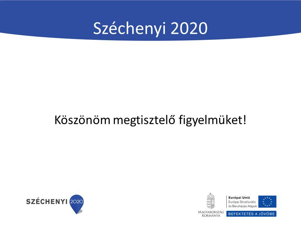 Széchenyi 2020 Köszönöm megtisztelő figyelmüket!