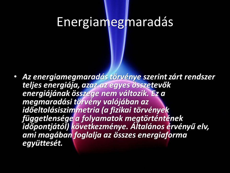 Erős magerő • Az erős kölcsönhatás tartja össze az atommagokat. Atommagok egyesülésekor a kötési energiának megfelelő nagy energia szabadul fel. Az il
