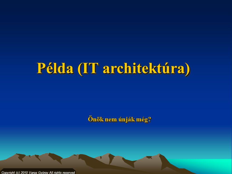 Copyright (c) 2010 Varga György All rights reserved Példa (IT architektúra) Önök nem únják még