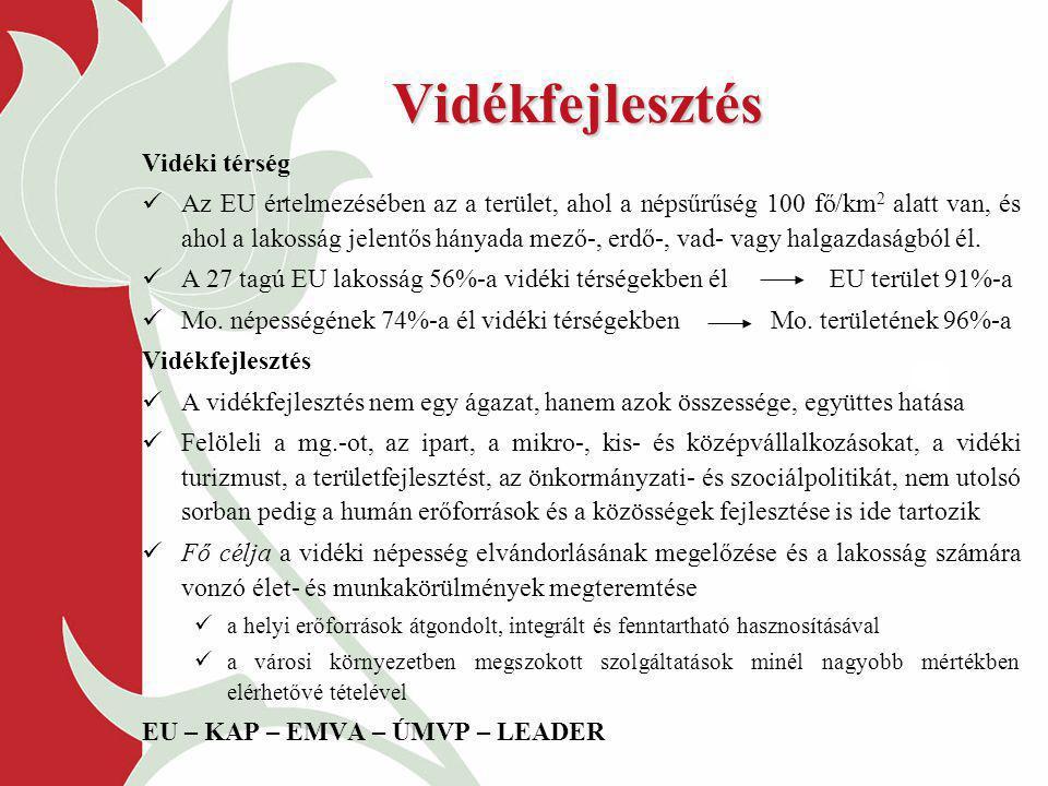 EMOGA Garancia RészlegOrientációs Részleg Belpiaci intézkedések Külpiaci intézkedések Intervenció Közvetlen támogatások Kísérő intézkedések (NVT) A KAP finanszírozása 2006-ig AVOP LEADER + Vidékfejlesztési intézkedések