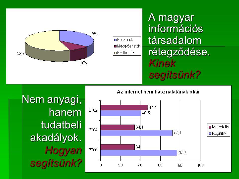 A magyar információs társadalom rétegződése. Kinek segítsünk.
