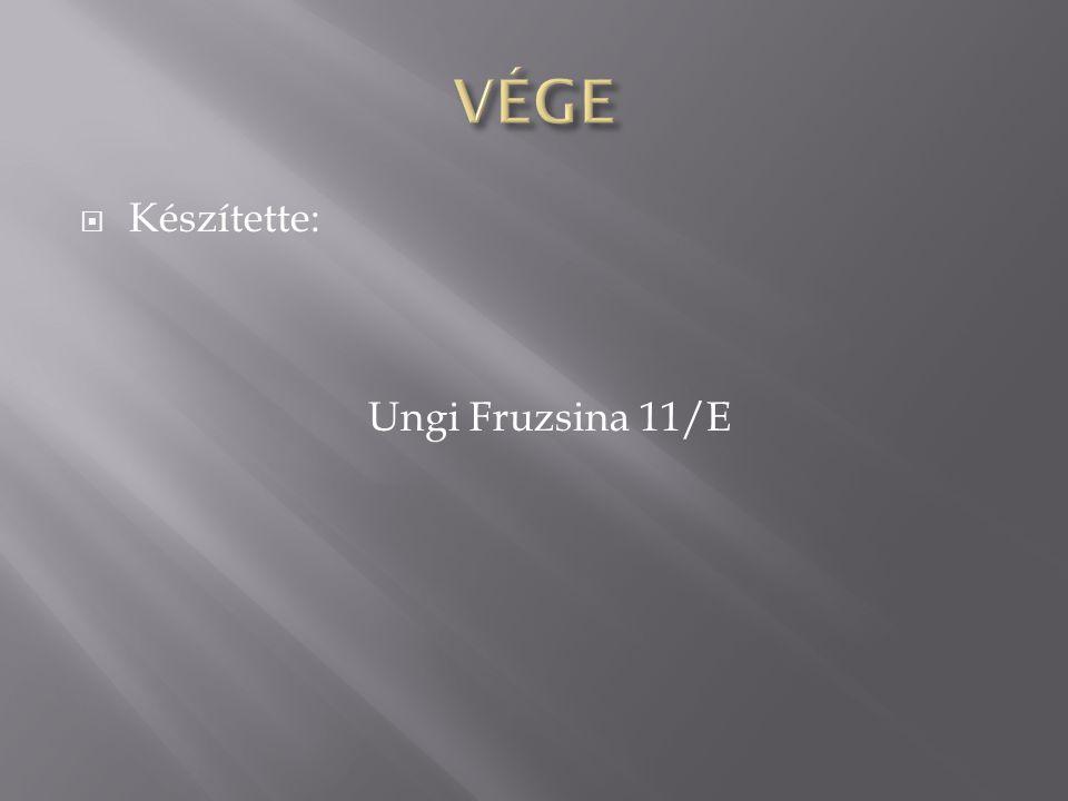  Készítette: Ungi Fruzsina 11/E