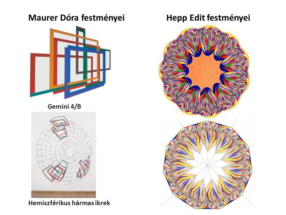 Maurer Dóra festményeiHepp Edit festményei Hemiszférikus hármas ikrek Gemini 4/B