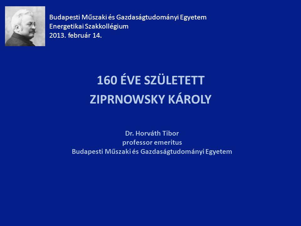 Budapesti Műszaki és Gazdaságtudományi Egyetem Energetikai Szakkollégium 2013.